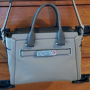 Coach Taupe Leather Small Bag